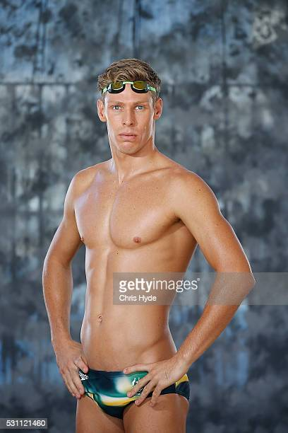 Jake Packard poses during the Speedo Rio 2016 Team Suit Launch on May 13 2016 in Gold Coast Australia