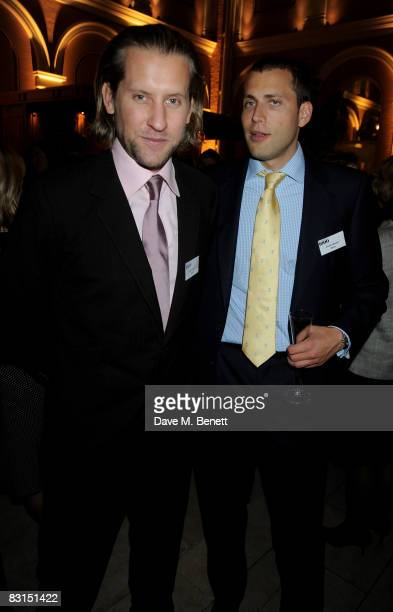 Jake Parkinson Smith and Oliver Bower attend the launch party for the Evening Standard:1000 Most Influential People In London list, at the Wallace...