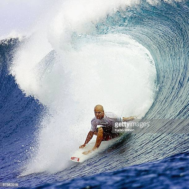Jake Paterson of Australia competes in round two of the Billabong Pro on May 10 2006 in Teahupoo Tahiti