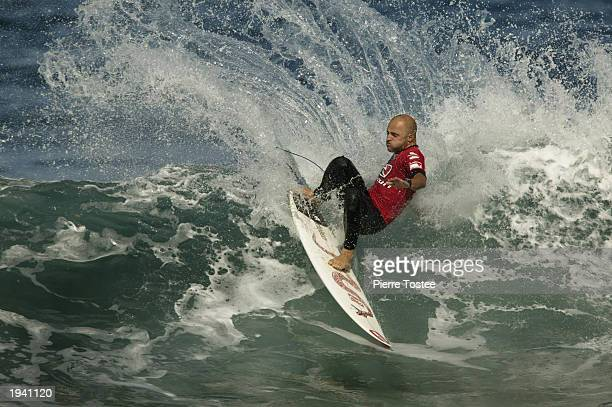 Jake Paterson of Australia in action during round two of the Rip Curl Pro April 19 2003 at Bells Beach in Torquay Australia The Rip curl Pro is the...