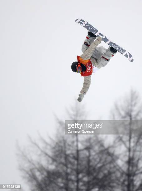 Jake Pates of the United States competes during the Snowboard Men's Halfpipe Final on day five of the PyeongChang 2018 Winter Olympics at Phoenix...