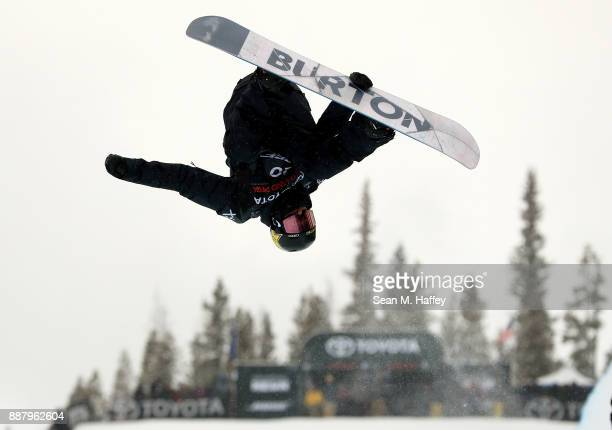 Jake Pates of the United States competes in a qualifying round of the FIS Snowboard World Cup 2018 Men's Snowboard Halfpipe during the Toyota US...