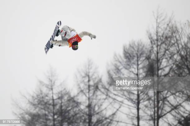 Jake Pates of the United States during the Snowboard Men's Halfpipe Final on day five of the PyeongChang 2018 Winter Olympics at Phoenix Snow Park on...
