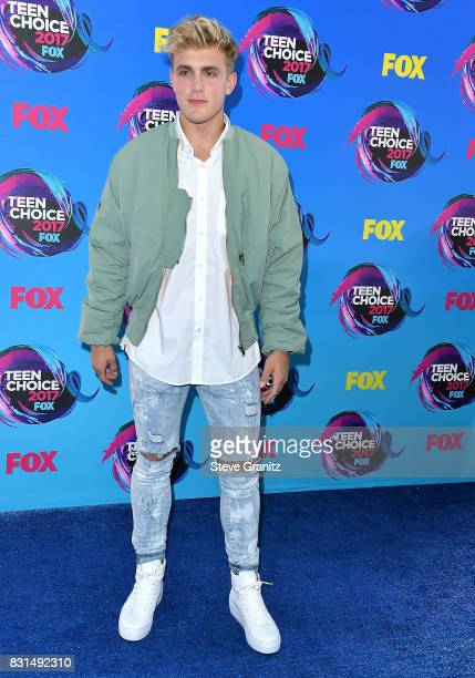 Jake Paul arrives at the Teen Choice Awards 2017 at Galen Center on August 13 2017 in Los Angeles California