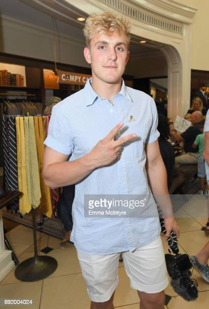 Jake Paul at the Brooks Brothers Beverly Hills summer camp party benefitting St. Jude Children's Research Hospital at Brooks Brothers Rodeo on June...