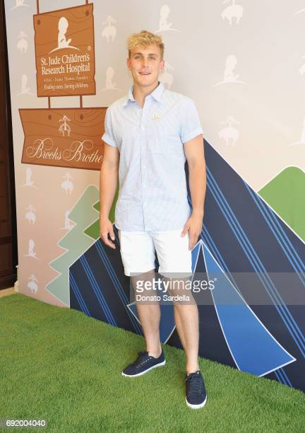 Jake Paul at the Brooks Brothers Beverly Hills summer camp party benefitting St Jude Children's Research Hospital at Brooks Brothers Rodeo on June 3...