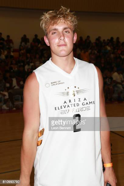 Jake Paul attends the 3rd Annual Ariza Elevated Celebrity Charity Basketball Game on July 8 2017 in Woodland Hills California