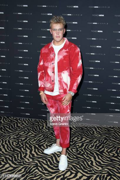 Jake Paul attends the Fashion Nova x Cardi B Collection Launch Party at Hollywood Palladium on May 08 2019 in Los Angeles California