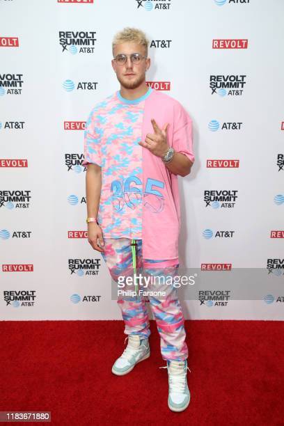 Jake Paul attends the REVOLT X ATT 3Day Summit In Los Angeles Day 2 at Magic Box on October 26 2019 in Los Angeles California