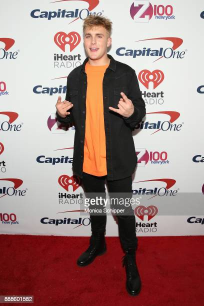 Jake Paul attends the Z100's Jingle Ball 2017 press room on December 8 2017 in New York City