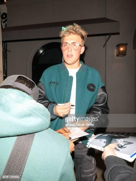 Jake Paul is seen on March 05 2018 in Los Angeles California