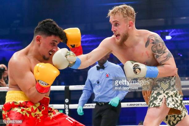 Jake Paul of Los Angeles California making his boxing pro debut against Ali Al-Fakhir of London England making his pro debut on January 30, 2020 part...