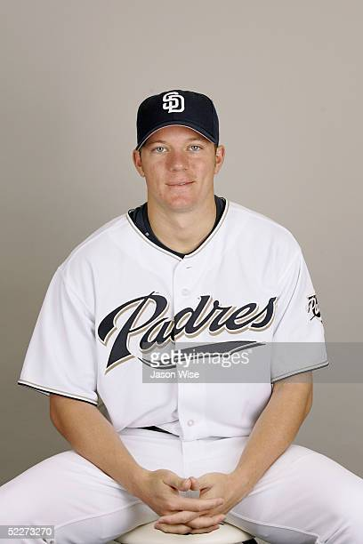 Jake Peavy of the San Diego Padres poses for a portrait during photo day at Peoria Stadium on February 26 2005 in Peoria Arizona
