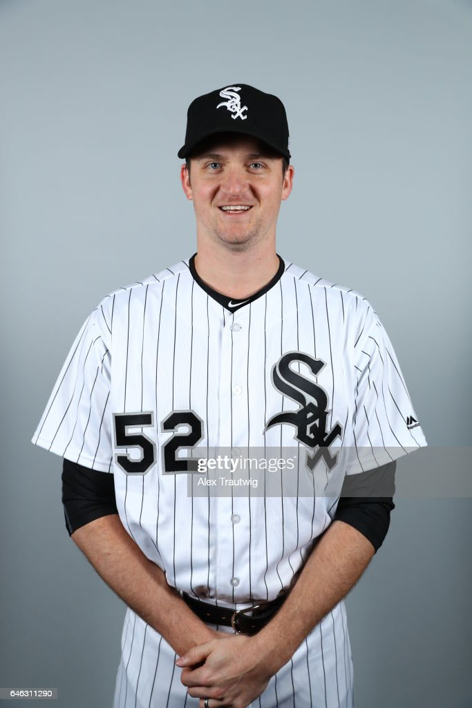 Jake Petricka #52 of the Chicago White Sox poses during Photo Day on Thursday, February 23, 2017 at Camelback Ranch in Glendale, Arizona.