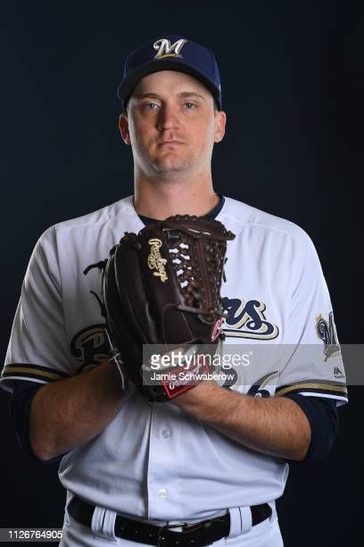 Jake Petricka of the Milwaukee Brewers poses during the Brewers Photo Day on February 22 2019 in Maryvale Arizona