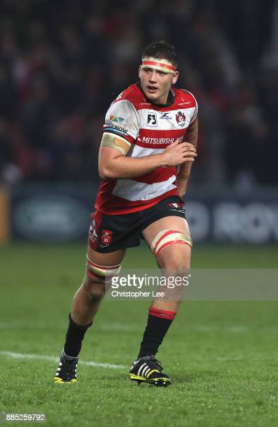 Jake Polledri of Gloucester during the Aviva Premiership match between Gloucester Rugby and London Irish at Kingsholm Stadium on December 2 2017 in...