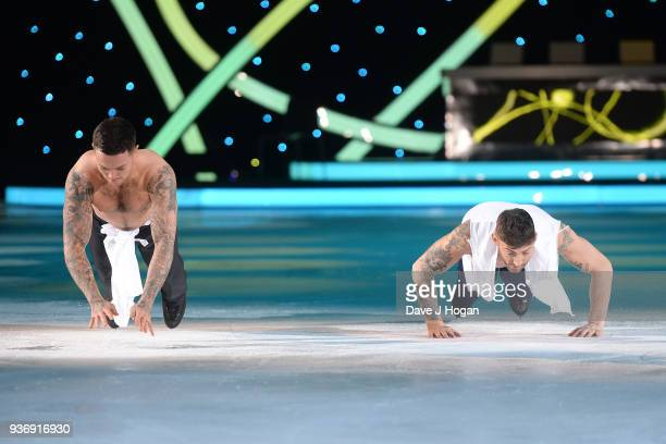 Jake Quickenden and Ray Quinn during the Dancing on Ice Live Tour Dress Rehearsal at Wembley Arena on March 22 2018 in London EnglandThe tour kicks...