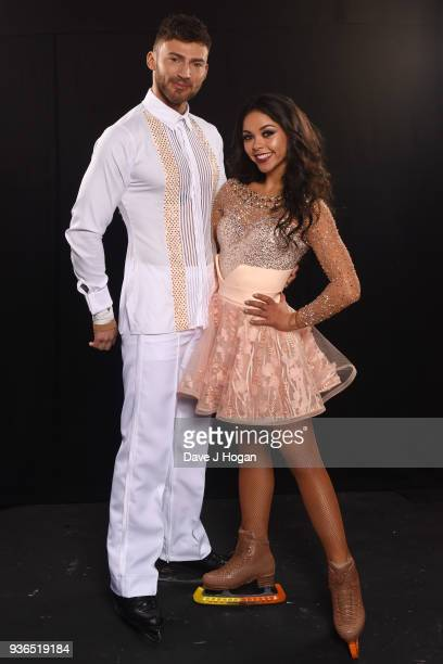 Jake Quickenden and Vanessa Bauer attends the press launch photocall for the Dancing on Ice Live Tour at Wembley Arena on March 22 2018 in London...
