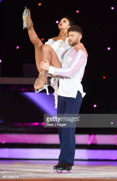 Jake Quickenden and Vanessa Bauer during the Dancing on Ice Live Tour Dress Rehearsal at Wembley Arena on March 22 2018 in London EnglandThe tour...