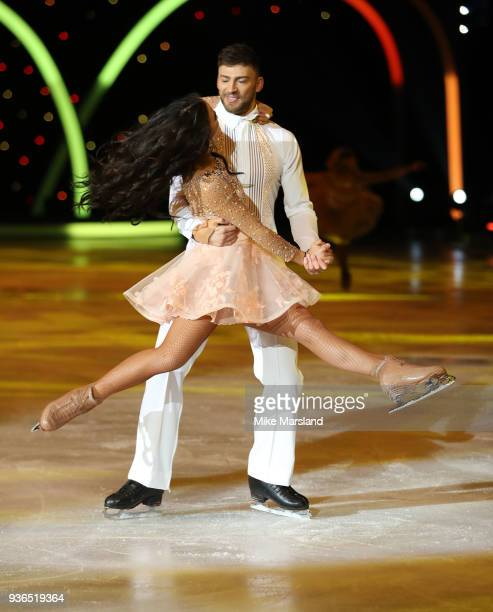 Jake Quickenden and Vanessa Bauer during the Dancing On Ice Live UK Tour launch at The SSE Arena Wembley on March 22 2018 in London England