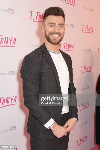 Jake Quickenden attends the UK Premiere of 'I Tonya' held at The Washington Mayfair on February 15 2018 in London England