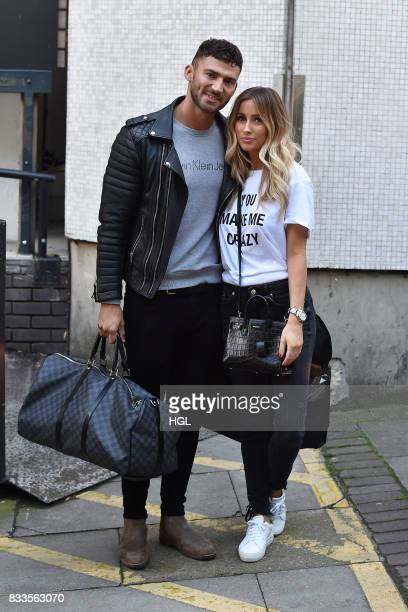 Jake Quickenden Danielle Fogarty at the ITV Studios on August 17 2017 in London England