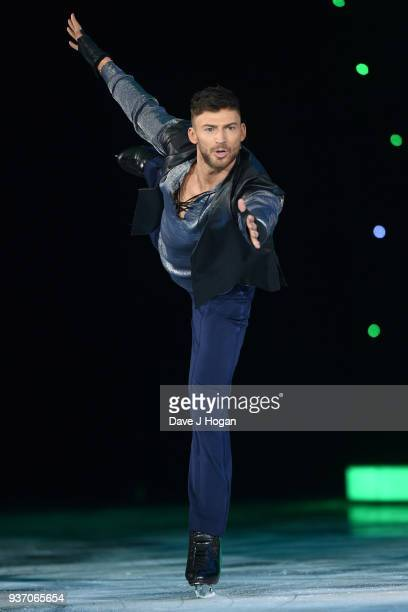 Jake Quickenden during the Dancing on Ice Live Tour Dress Rehearsal at Wembley Arena on March 22 2018 in London EnglandThe tour kicks off March 23...