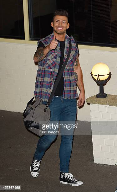 Jake Quickenden leaves the X Factor studio on October 25 2014 in London England