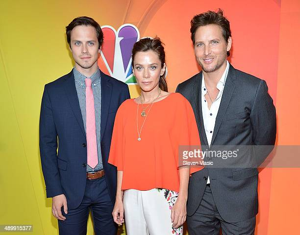 Jake Robinson Anna Friel and Peter Facinelli attend the 2014 NBC Upfront Presentation at The Jacob K Javits Convention Center on May 12 2014 in New...