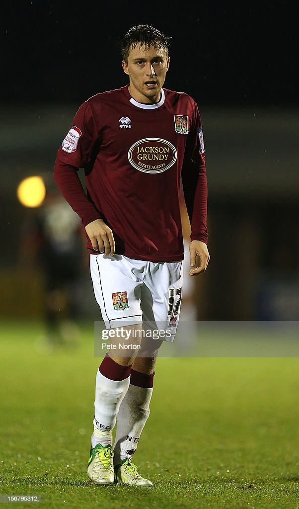 Jake Robinson of Northampton Town in action during the npower League Two match between Northampton Town and Morecambe at Sixfields Stadium on November 20, 2012 in Northampton, England.