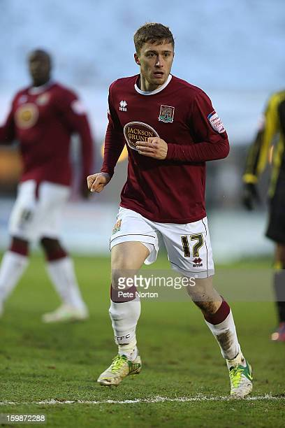 Jake Robinson of Northampton Town in action during the npower League Two match between Northampton Town and Burton Albion at Sixfields Stadium on...