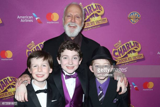 Jake Ryan Flynn Ryan Sell John Rubinstein and Ryan Foust attends 'Charlie And The Chocolate Factory' Broadway Opening Night at Pier 60 on April 23...