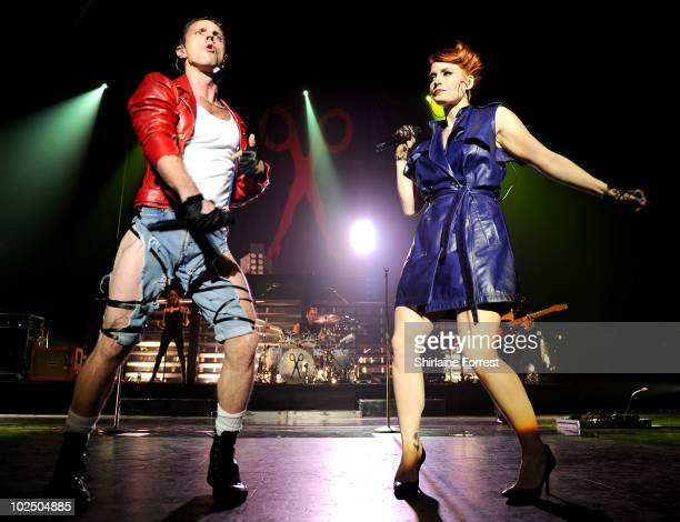Jake Shears and Ana Matronic of Scissor Sisters perform at Manchester Apollo on June 28 2010 in Manchester England