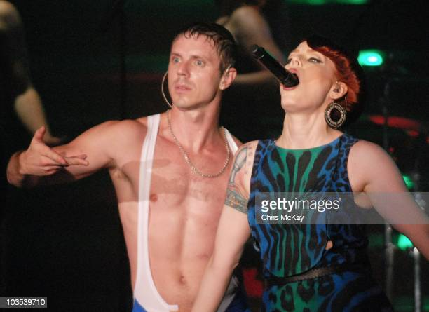 Jake Shears and Ana Matronic of Scissor Sisters perform at the Buckhead Theatre on August 21 2010 in Atlanta Georgia
