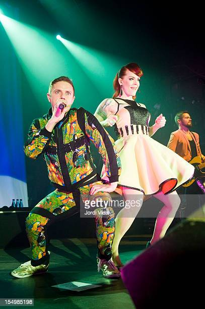 Jake Shears and Ana Matronic of Scissor Sisters perform on stage at Razzmatazz on October 29 2012 in Barcelona Spain