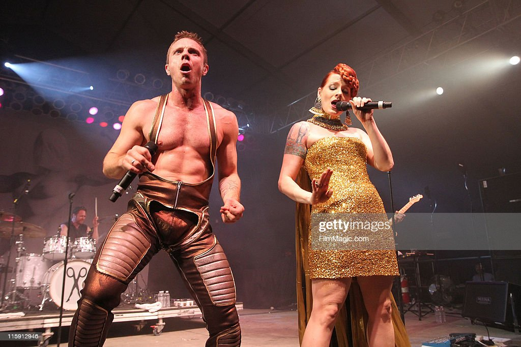 Jake Shears and Ana Matronic of Scissor Sisters perform on stage during Bonnaroo 2011 at This  sc 1 st  Getty Images & Bonnaroo 2011 - Day 3 - Scissor Sisters Photos and Images | Getty ...