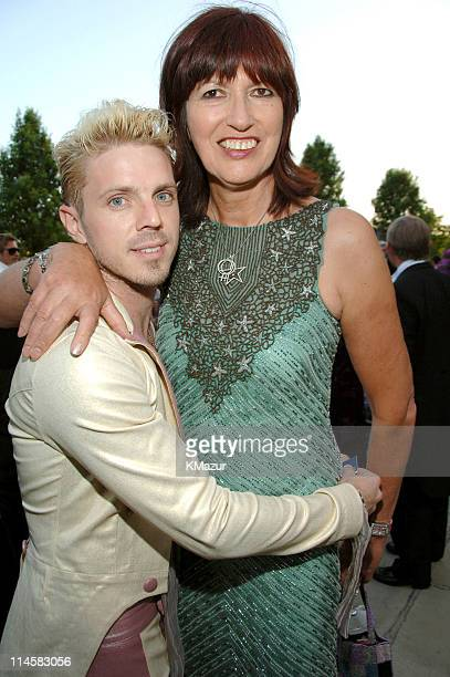 Jake Shears and Janet Street Porter during The 8th Annual White Tie and Tiara Ball to Benefit the Elton John AIDS Foundation in Association with...