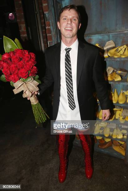 Jake Shears as 'Charlie Price' poses backstage as Jake Shears of rock group 'The Scissor Sisters' makes his Broadway debut in the hit musical 'Kinky...