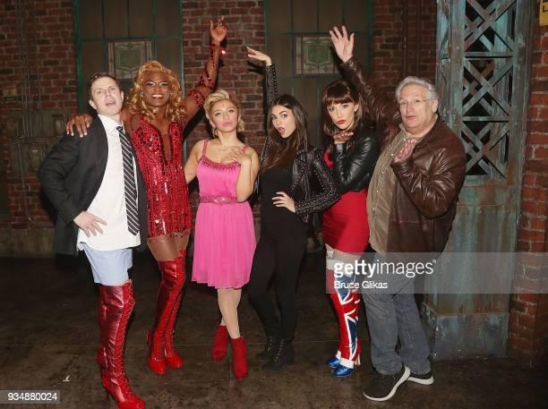 Jake Shears as 'Charlie' Wayne Brady as 'Lola' Kirstin Maldonado as 'Lauren' Victoria Justice Caroline Bowman as 'Nicola' and 'Kinky Boots' Book...