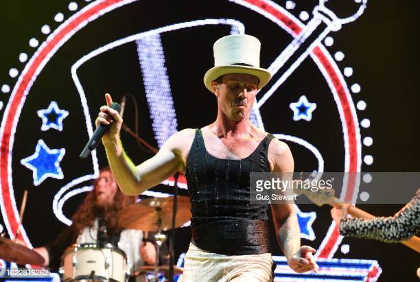 Jake Shears performs on the second stage at RiZE Festival on August 17 2018 in Chelmsford United Kingdom