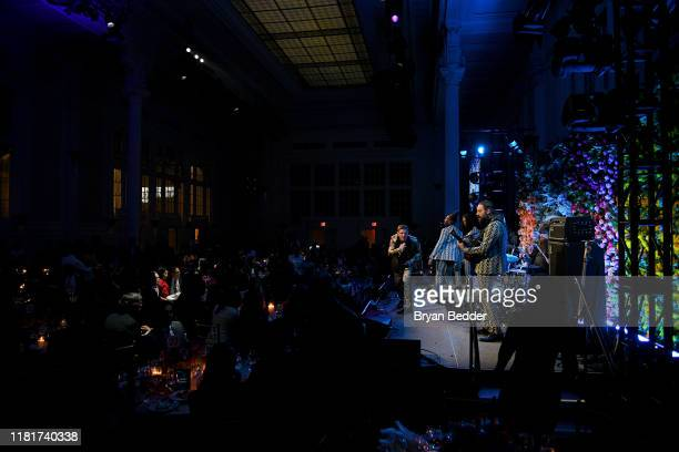 Jake Shears performs onstage during the Hudson River Park Annual Gala at Cipriani South Street on October 17 2019 in New York City