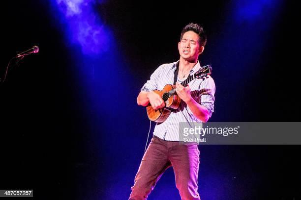 Jake Shimabukuro live at Paramount Theater in Seattle WA on April 26 2014 in Seattle Washington