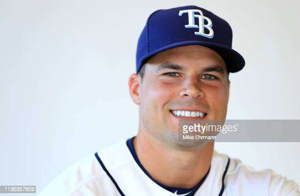 Jake Smolinski of the Tampa Bay Rays poses for a portrait during photo day on February 17 2019 in Port Charlotte Florida