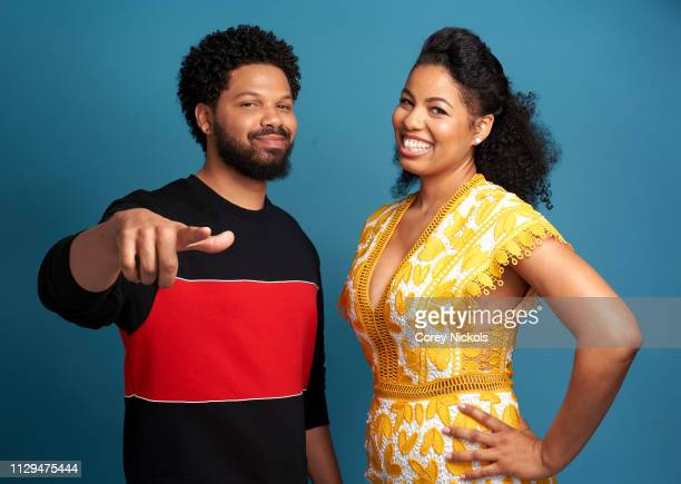 Jake Smollett and Jazz Smollett of TV One's 'Living By Design With Jake and Jazz' pose for a portrait during the 2019 Winter TCA at The Langham...