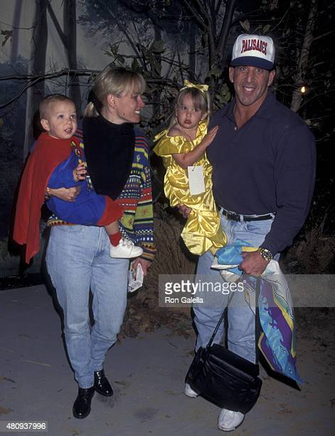 Jake Steinfeld attends Second Annual Dream Halloween Benefit on October 28 1995 at the Barker Hanger at Santa Monica Airport in Santa Monica...