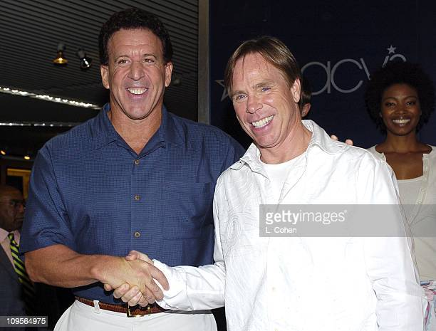 Jake Steinfeld with Tommy Hilfiger during Tommy Hilfiger Special InStore Appearance at Macy's Beverly Center in Los Angeles California United States