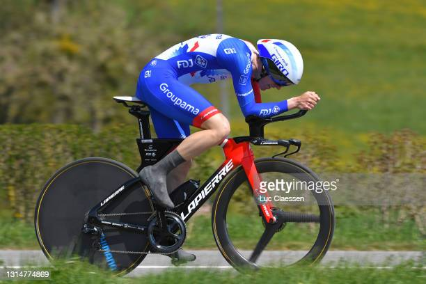 Jake Stewart of United Kingdom and Team Groupama - FDJ during the 74th Tour De Romandie 2021, Prologue a 4,05km Individual Time Trial stage from Oron...