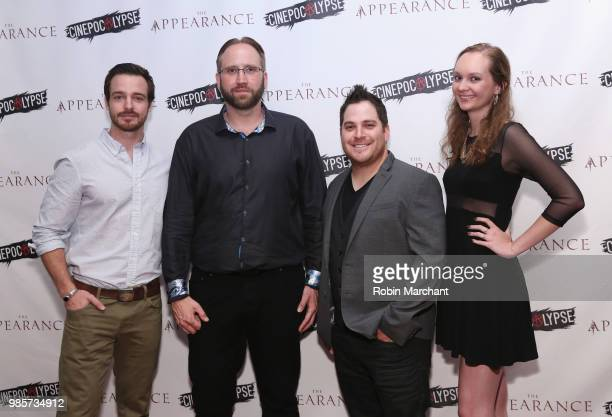 Jake Stormoen Douglas Pasko Kurt Knight and Baylee Self attend The Appearance Movie Premiere At Cinepocalypse at Music Box Theatre on June 27 2018 in...