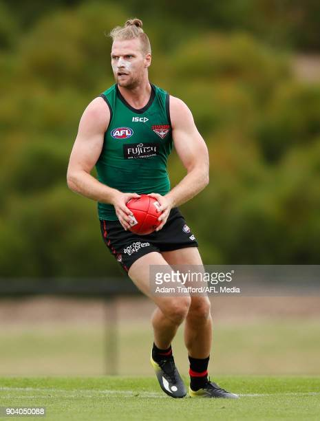 Jake Stringer of the Bombers in action during the Essendon Bombers training session at The Hangar on January 12 2018 in Melbourne Australia