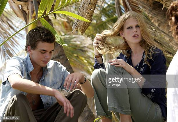 Jake Sumner and Alexandra Richards during Tommy Jeans Photo Shoot in Mustique in Mustique Bahamas